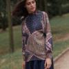 bluzka we wzór paisley