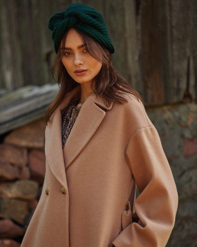 dwurzędowy jesienny płaszcz